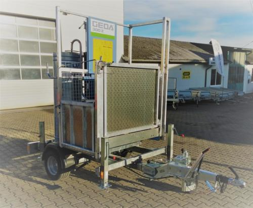 Fahrgestell für GEDA Bauaufzug